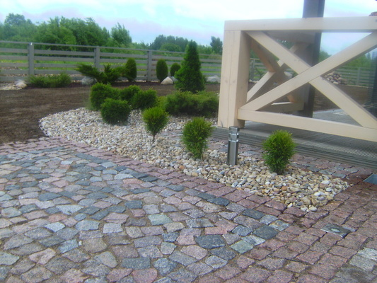 Строительство каменных, бетонных, брусчатных покрытий
