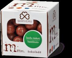 Roasted hazelnuts in milk chocolate
