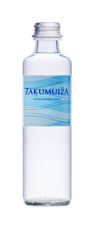 Natural mineral water, 0.25 L glass bottle