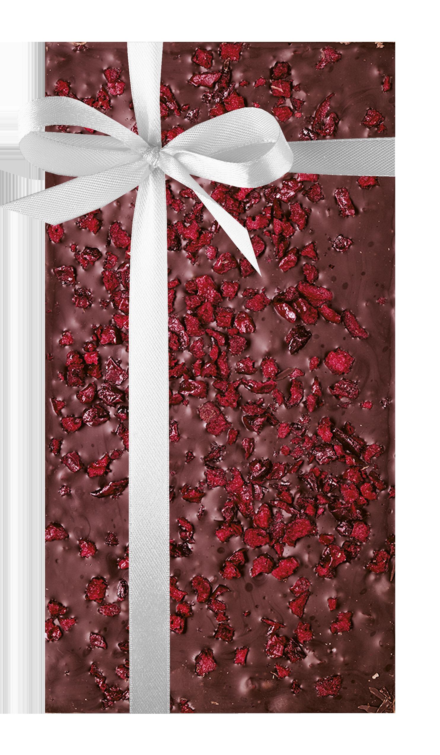 Dark chocolate with cherries
