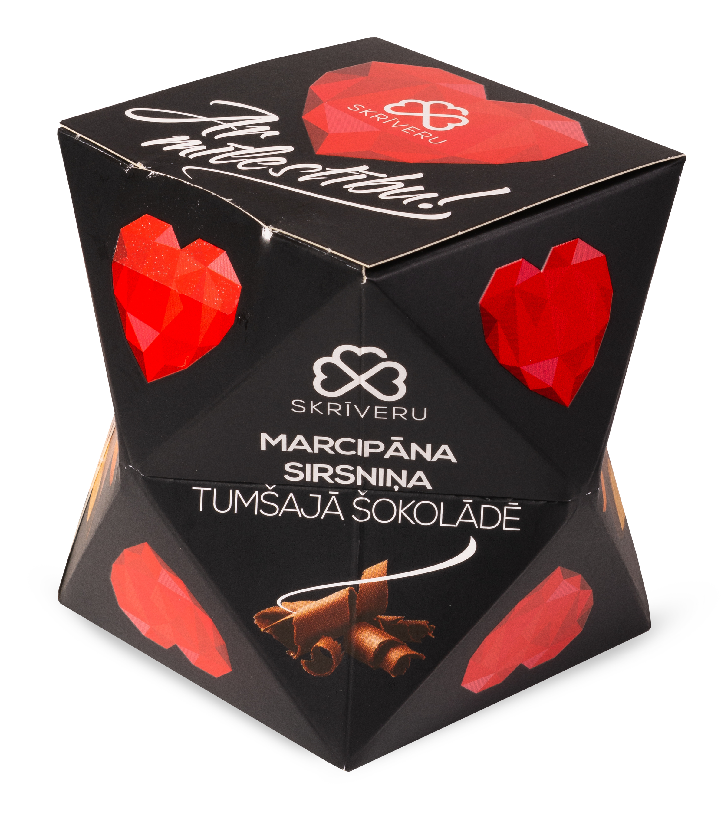 """Marcipāns tumšajā šokolādē """"Ar Mīlestību"""""""