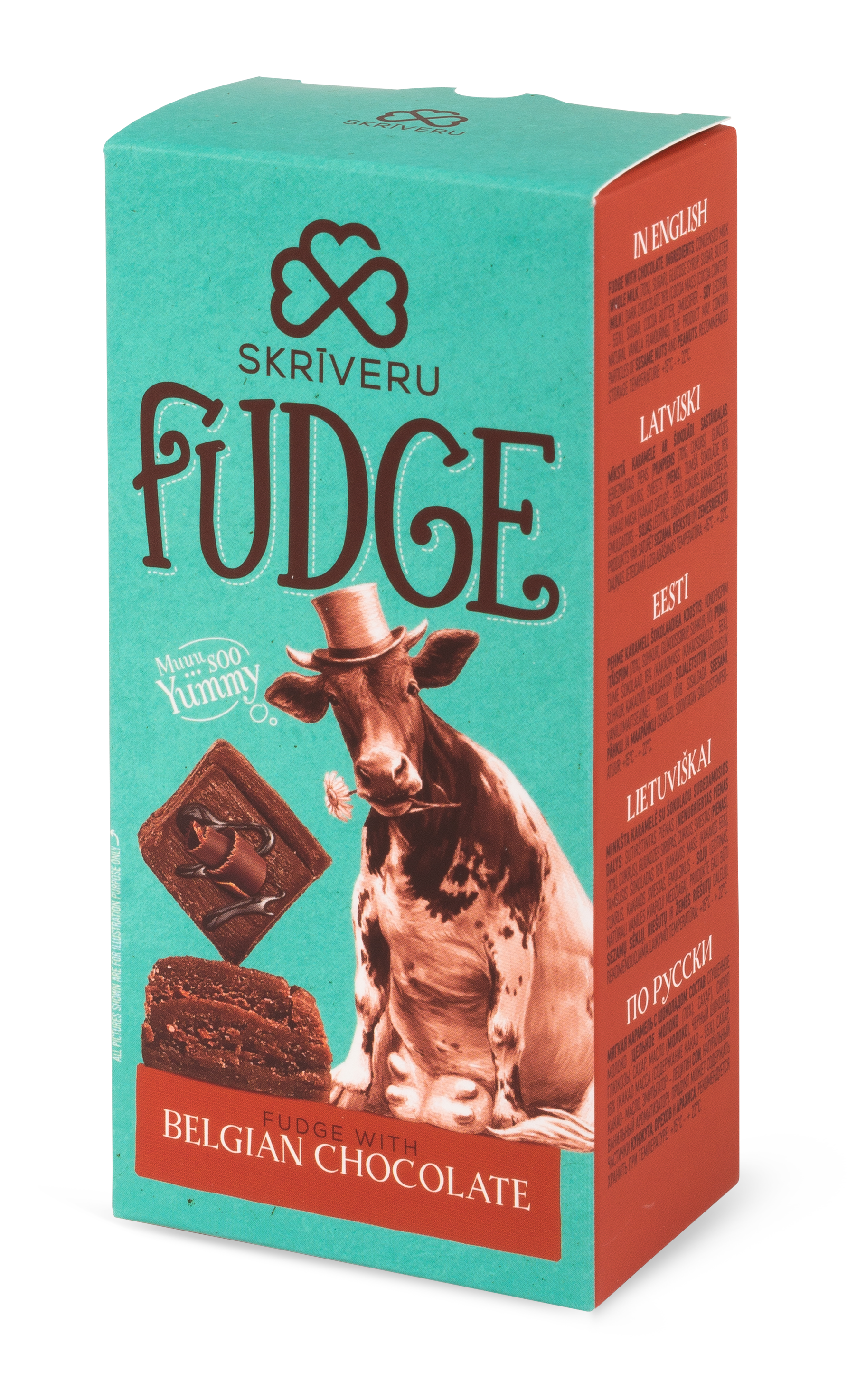 Fudge with chocolate