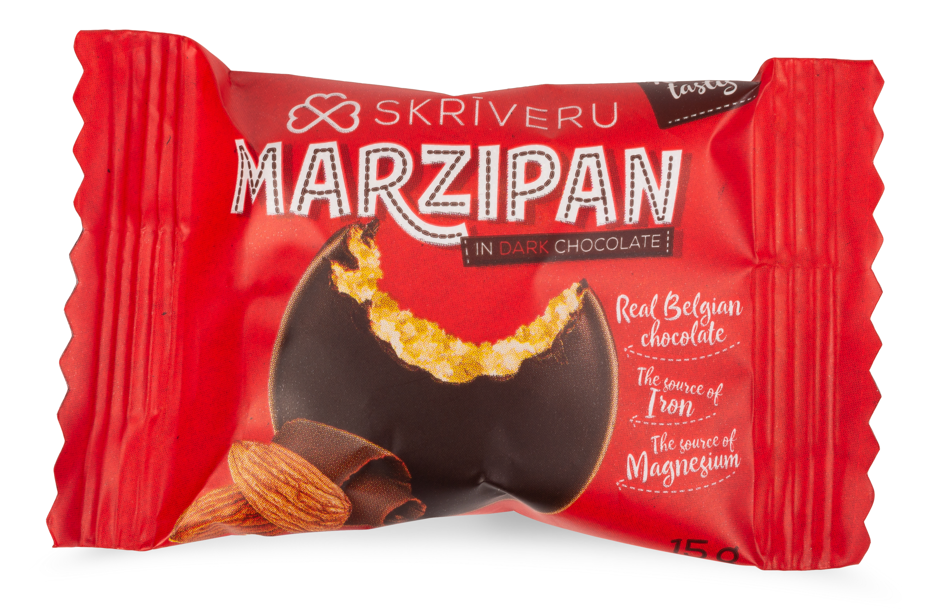 Marzipan in dark chocolate