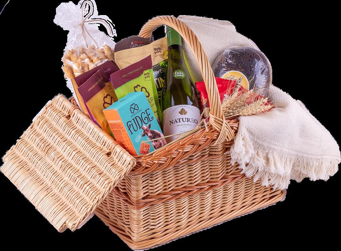 Rich gift basket